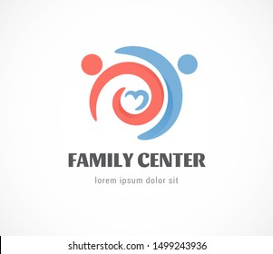 Birth, pregnant, family and baby care logo and symbol. vector design