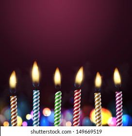 Birthday background with candles. Eps 10