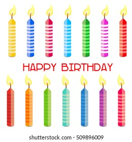 Birthday background with color candles