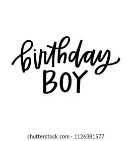 Birthday Boy Hand Lettering