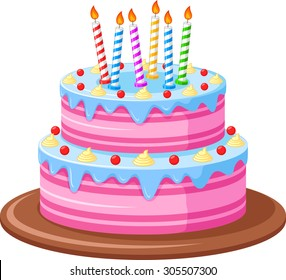 Groovy Birthday Cake Cartoon Images Stock Photos Vectors Shutterstock Funny Birthday Cards Online Elaedamsfinfo