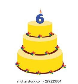 Super 6Th Birthday Cake Images Stock Photos Vectors Shutterstock Funny Birthday Cards Online Alyptdamsfinfo