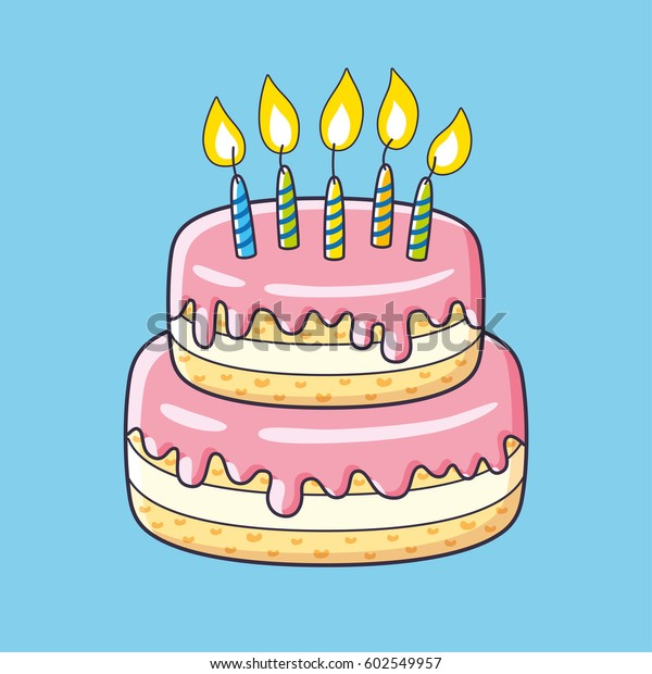 Birthday Cake Candles Stock Vector Royalty Free 602549957