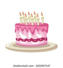 Magnificent Birthday Cake Cartoon Images Stock Photos Vectors Shutterstock Funny Birthday Cards Online Elaedamsfinfo