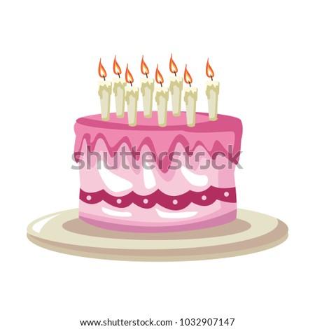 Birthday Cake Cartoon Stock Vector Royalty Free 1032907147