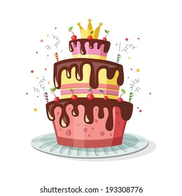 birthday cake cartoon Images, Stock Photos & Vectors | Shutterstock