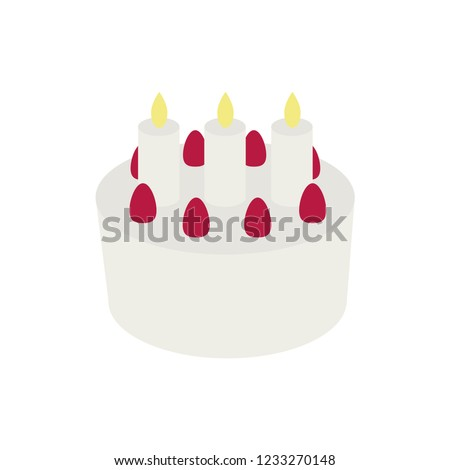 Birthday Cake Emoji Vector