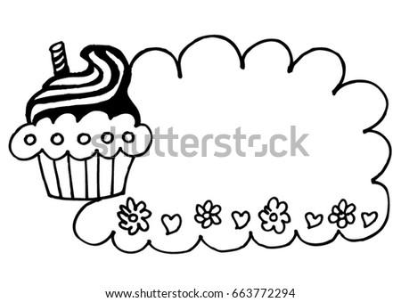 Birthday Cake Frame Stock Vector (Royalty Free) 663772294 - Shutterstock