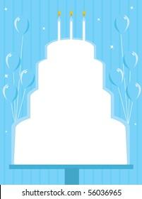 Birthday cake frame background - vector