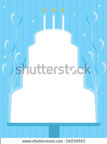 Birthday Cake Frame Background