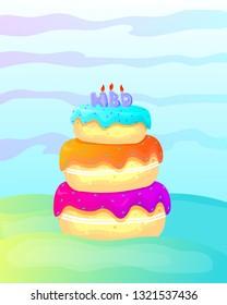 birthday cake full colors