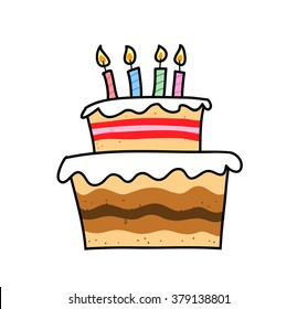 Birthday Cake Cartoon Images Stock Photos Vectors Shutterstock