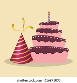 birthday cake hat decoration party