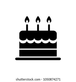 Birthday Cake Icon Isolated Vector