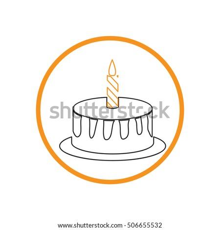 Birthday Cake Icon Symbol Cake Celebrating Stock Vector Royalty