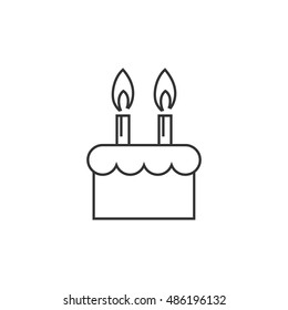 Birthday Cake Transparent Icon Birthday Cake Stock Vector Royalty