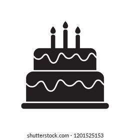 Birthday Cake Black White Stock Illustrations Images Vectors