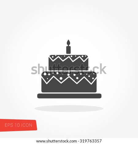 Immagine Vettoriale A Tema Birthday Cake Icon Vector Royalty Free