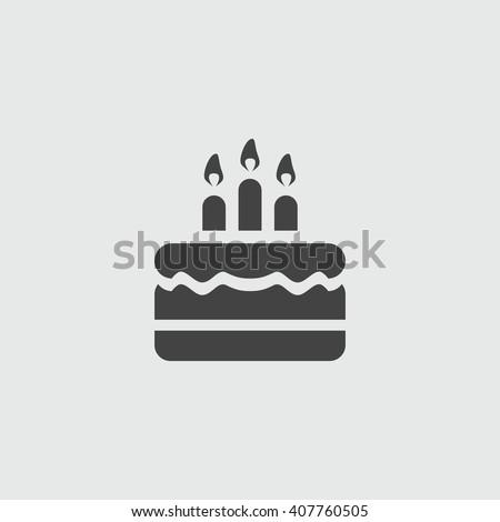 Immagine Vettoriale A Tema Birthday Cake Icon Vector Illustration