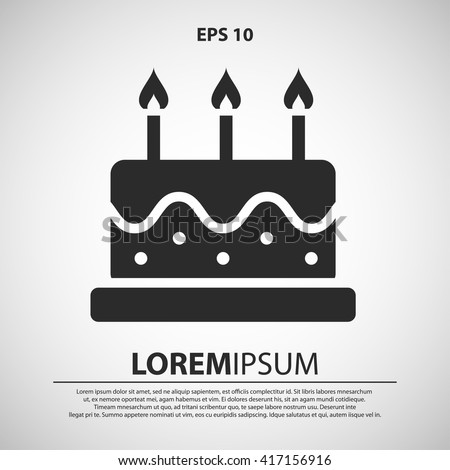 Immagine Vettoriale A Tema Birthday Cake Icon Birthday Cake Vector