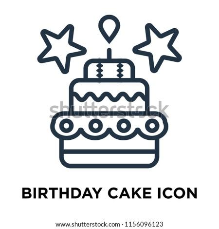 Birthday Cake Icon Vector Isolated On Stock Vector Royalty Free