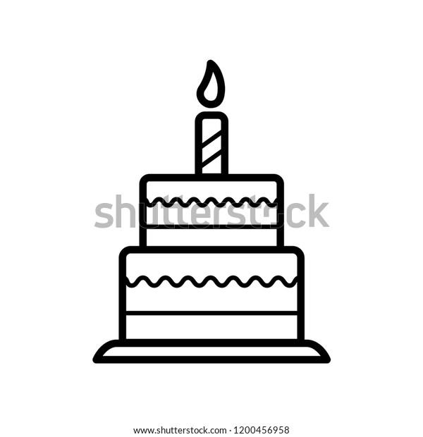 Terrific Birthday Cake Icon Vector Template Stock Vector Royalty Free Funny Birthday Cards Online Inifodamsfinfo