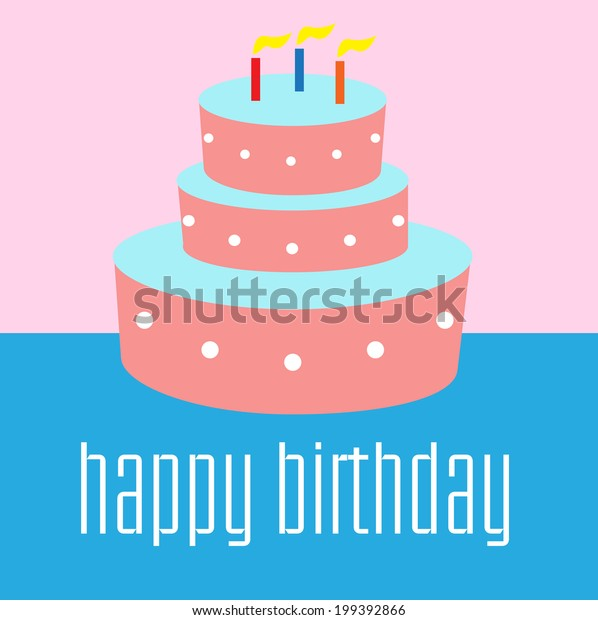 Fantastic Birthday Cake Illustration Stock Vector Royalty Free 199392866 Funny Birthday Cards Online Amentibdeldamsfinfo