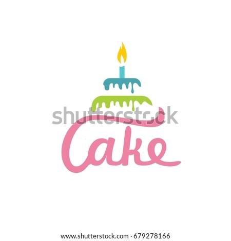 Birthday Cake Logo Stock Vector Royalty Free 679278166 Shutterstock