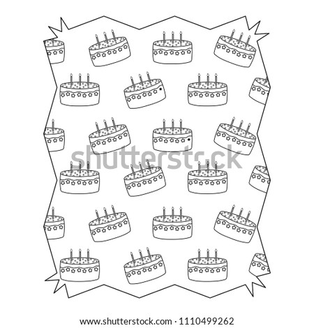 Birthday Cake Pattern Stock Vector Royalty Free 1110499262