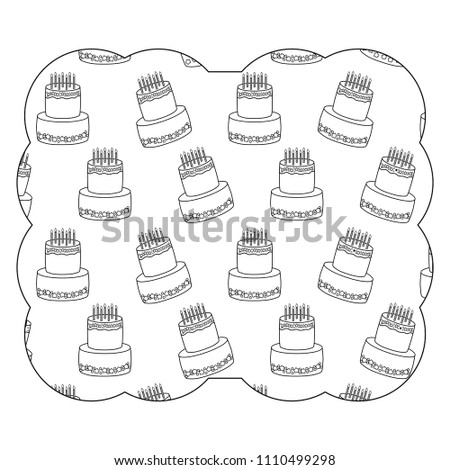 Birthday Cake Pattern Stock Vector Royalty Free 1110499298