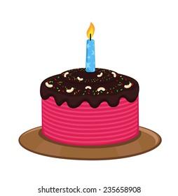 Birthday Cake Vector Art