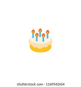 Birthday Cake Vector Flat Illustration