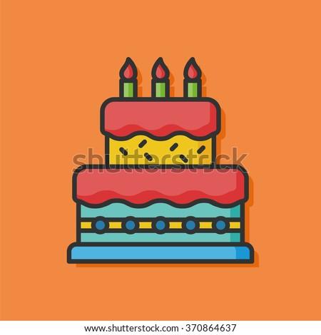 Immagine Vettoriale A Tema Birthday Cake Vector Icon Royalty Free
