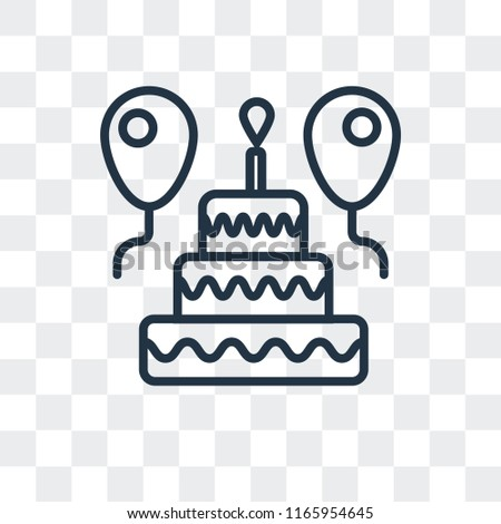 Birthday Cake Vector Icon Isolated On Stock Vector Royalty Free