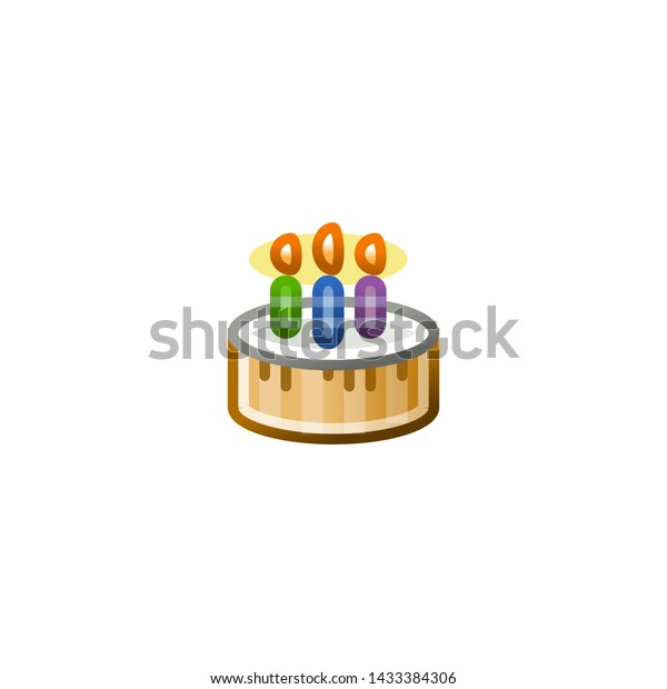 Pleasing Birthday Cake Vector Icon Isolated Cake Stock Vector Royalty Free Funny Birthday Cards Online Aeocydamsfinfo