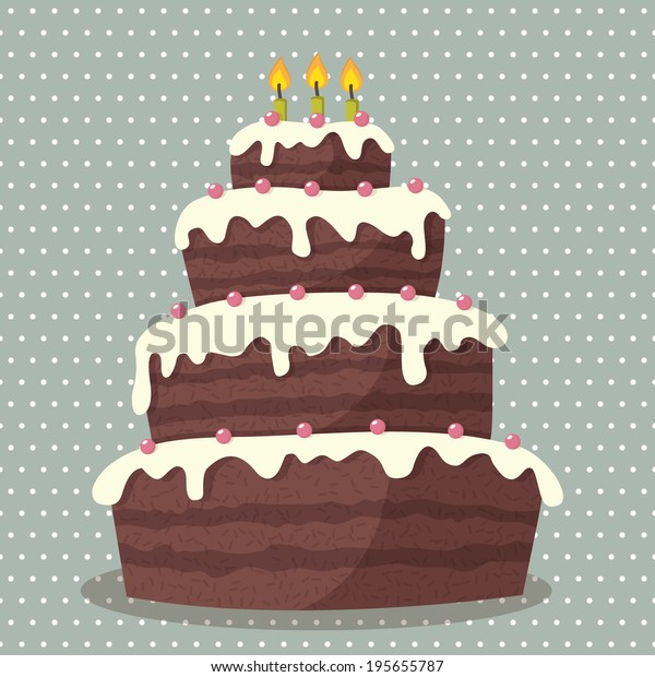 Awe Inspiring Birthday Cake Vector Illustration Cute Birthday Stock Vector Funny Birthday Cards Online Alyptdamsfinfo