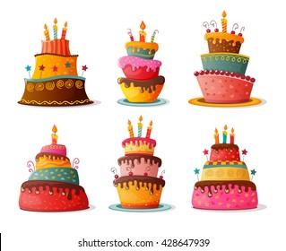 バースデーケーキ イラストの画像写真素材ベクター画像 Shutterstock