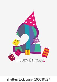2 Year Old Birthday Images Stock Photos Vectors