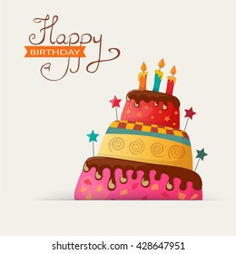 Birthday greetings images stock photos vectors shutterstock birthday card with cake eps10 m4hsunfo