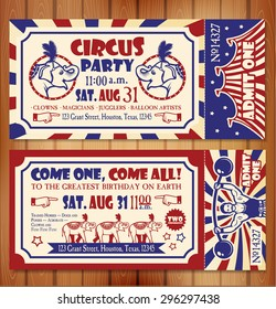 Birthday card with Circus Ticket