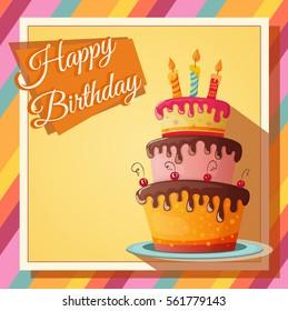 birthday card with cupcake. eps10