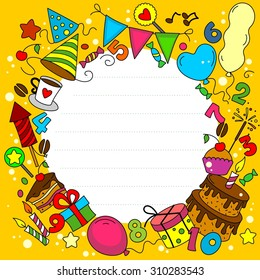 Birthday Card with elements of a circle