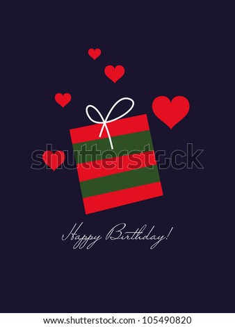Birthday card gift card love card stock vector royalty free birthday card gift card love card for valentine greeting card gift m4hsunfo