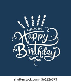 Birthday card with lettering design