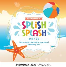 Ilustraciones Imagenes Y Vectores De Stock Sobre Kids Beach Party