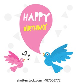 Birthday card template for infant and children