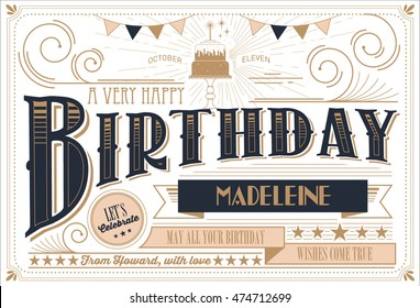 birthday card template vector/illustration