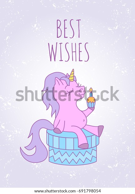 Birthday Card Text Best Wishes Cute Stock Vector Royalty Free