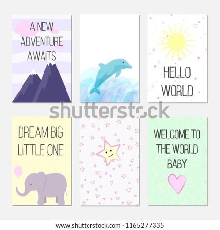 Birthday Cards With Quotes Cartoon Dolphin And Elephant For Baby Girl Kids A