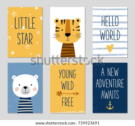 Birthday Cards With Quotes Cartoon Tiger And Bear For Baby Boy Kids Can